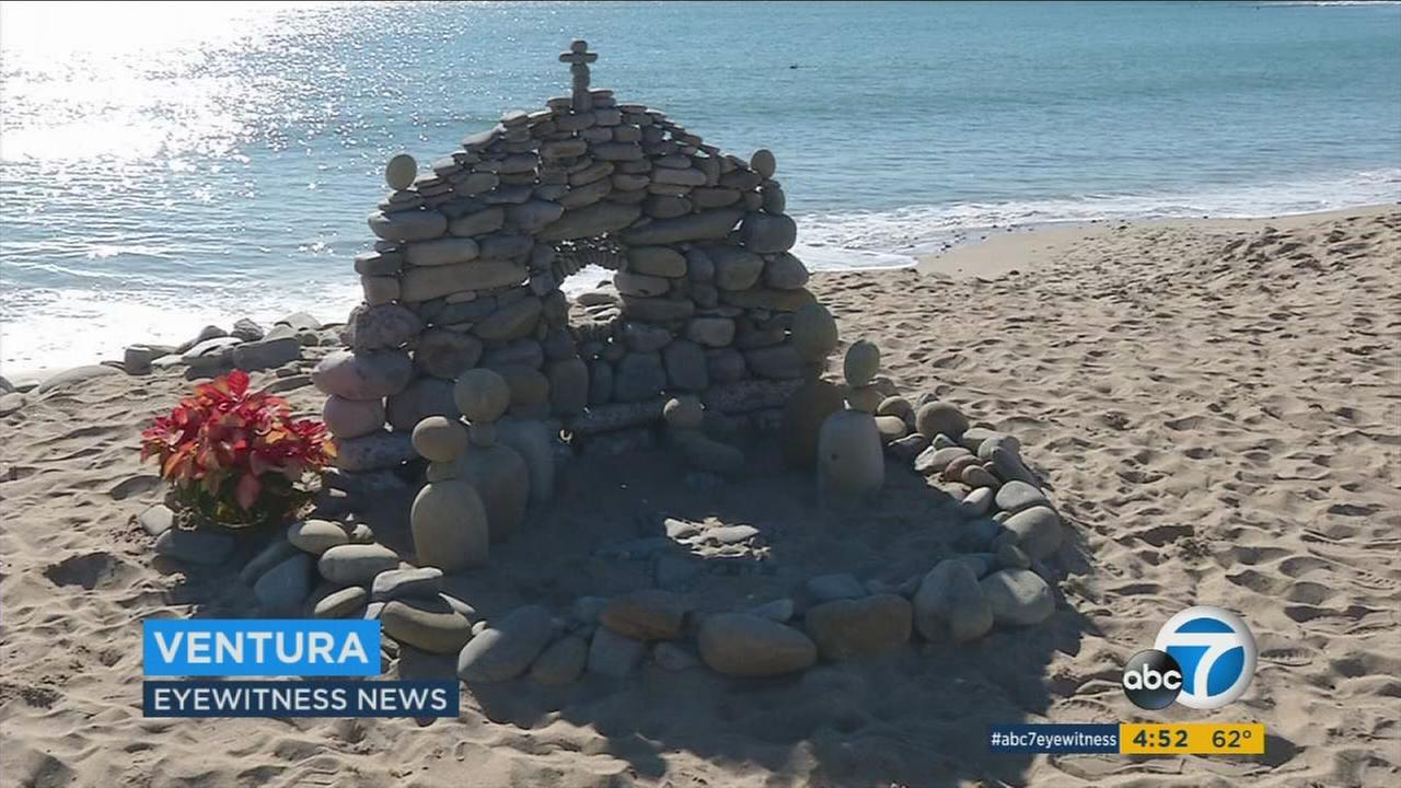 A rock nativity in Ventura that was created by a struggling artist.