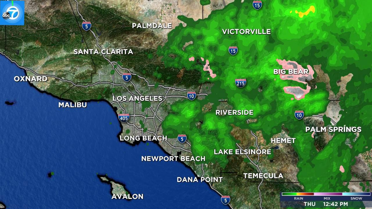 Southern California Weather Forecast Los Angeles Orange County - Los angeles doppler map