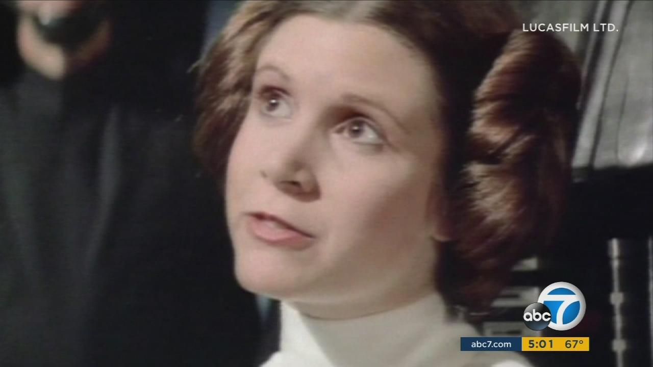 An undated photo of Carrie Fisher in Star Wars. Fisher died Tuesday, Dec. 27, 2016, in Los Angeles.
