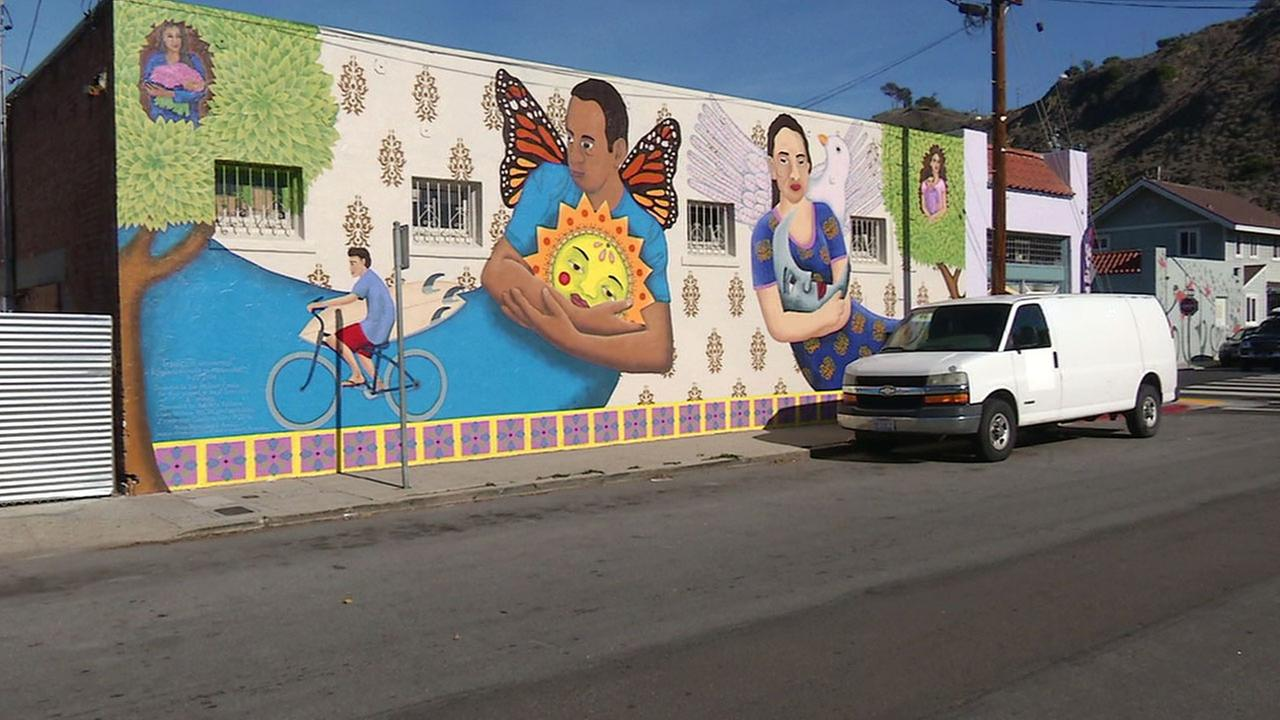A mural was created in the Avenue neighborhood of Ventura on Tuesday, Dec. 27, 2016.