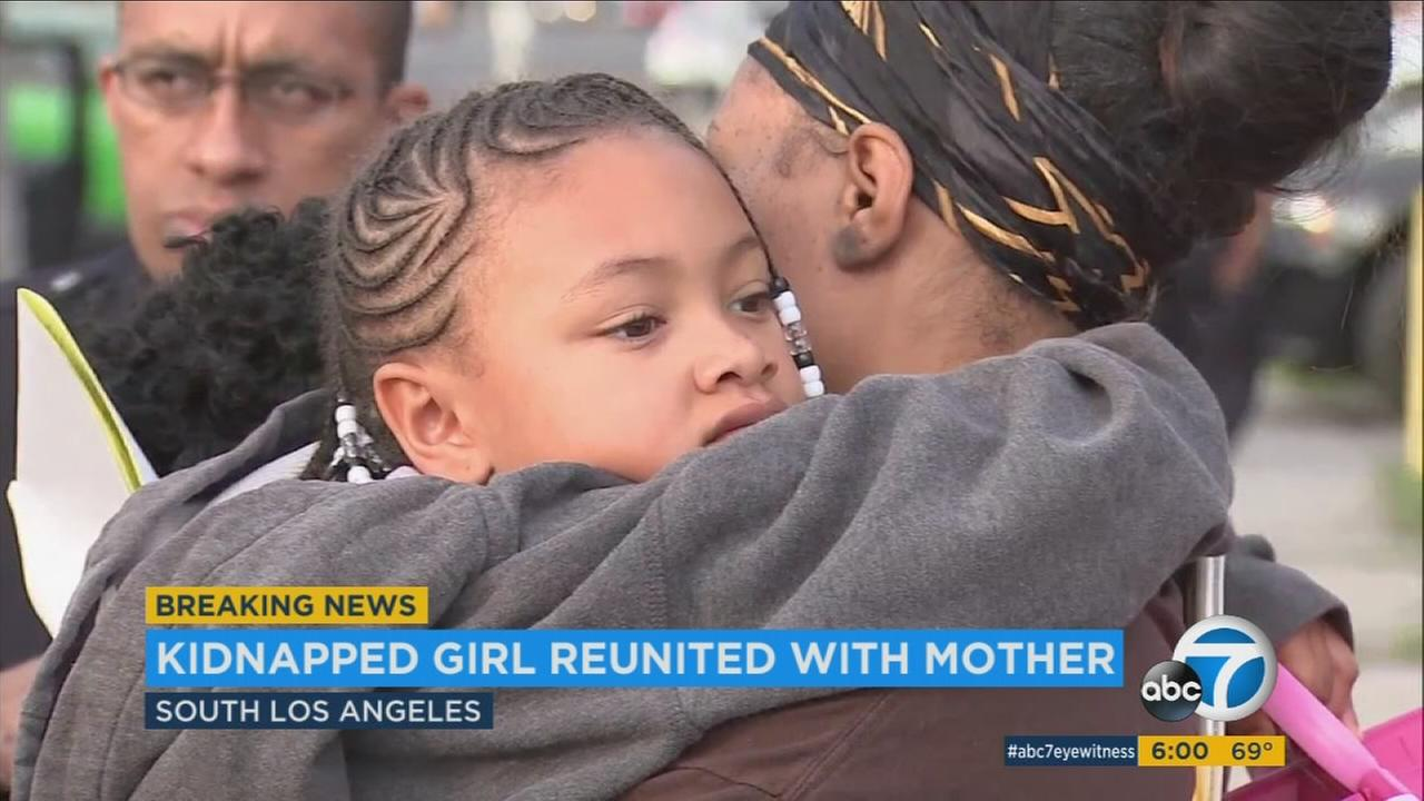 A child was found safe after she was kidnapped during a car theft in South Los Angeles on Thursday, Dec. 29, 2016, according to authorities.