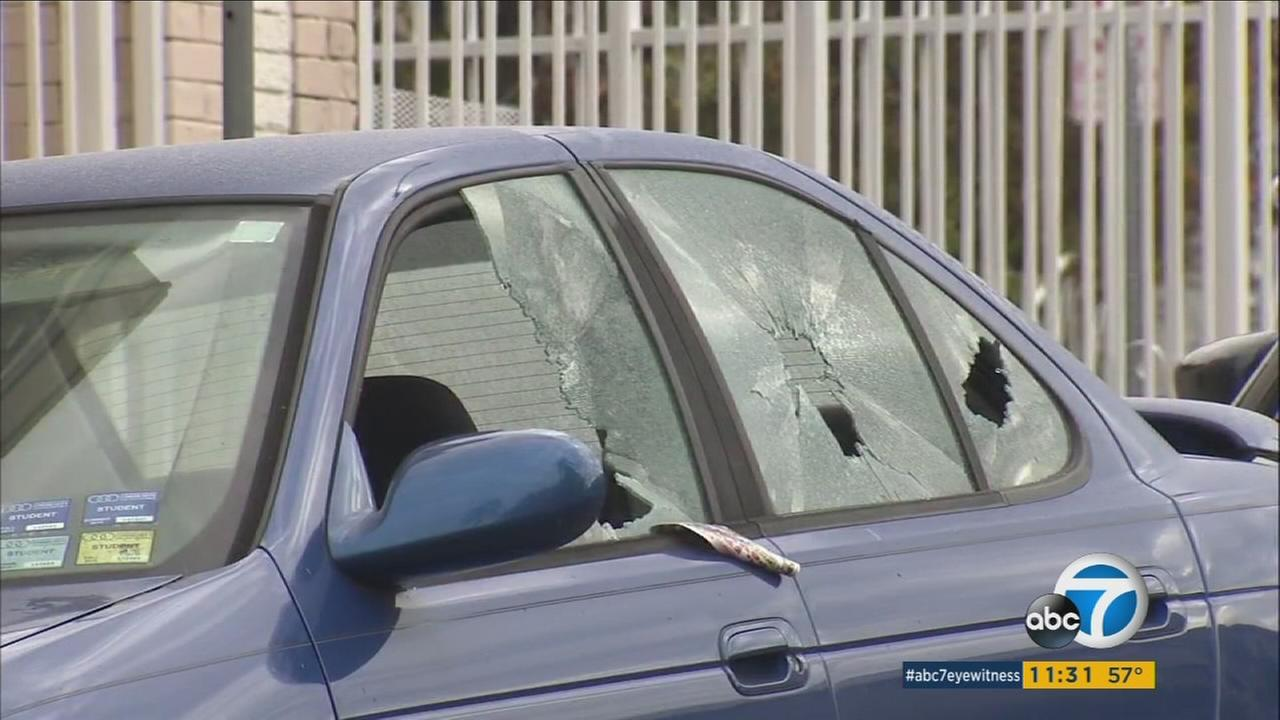 Dozens of residents in Koreatown woke up on Tuesday, Jan. 3, 2017, to find a suspect had busted out car windows along Third Street.