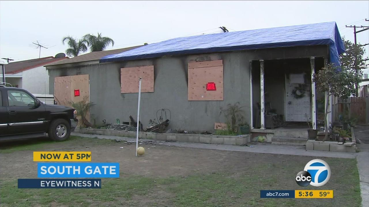 The community of South Gate is coming together to help out an extended family of 10 whose home was destroyed in a New Years Day fire.
