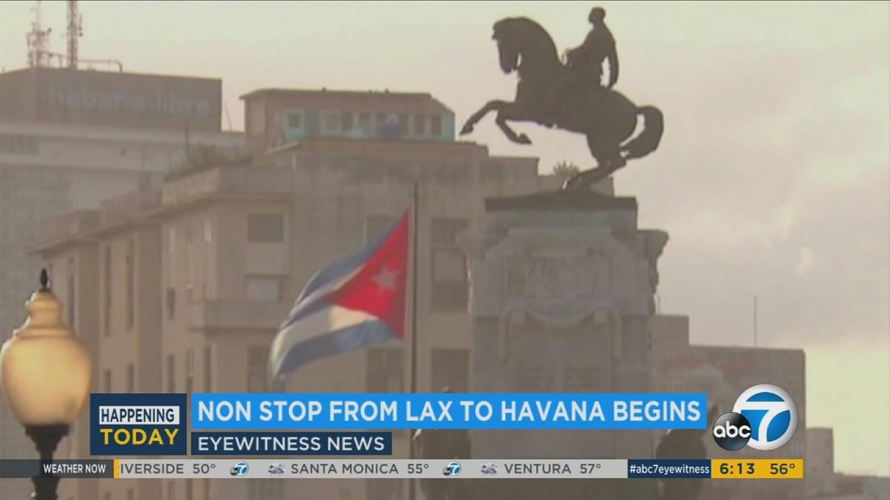 Nonstop commercial flights from Los Angeles International Airport to Havana were scheduled to begin Thursday, Jan. 5, 2017.