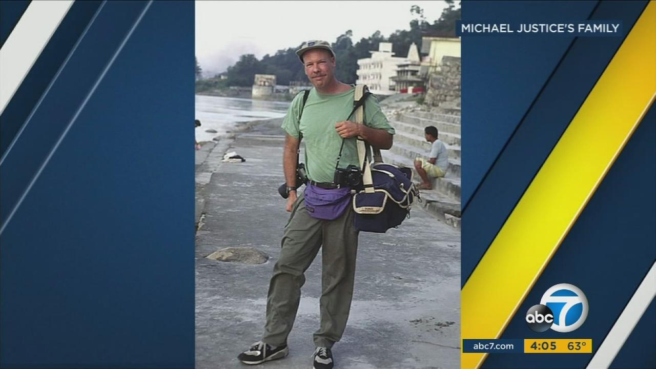 Michael Justice was an accomplished photographer who is believed to have been killed in a helicopter crash off the coast of San Pedro.