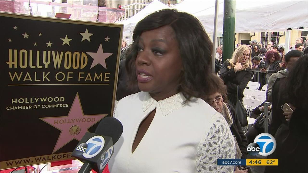 Celebrated film and television actress Viola Davis was honored Thursday with a star on the Hollywood Walk of Fame.
