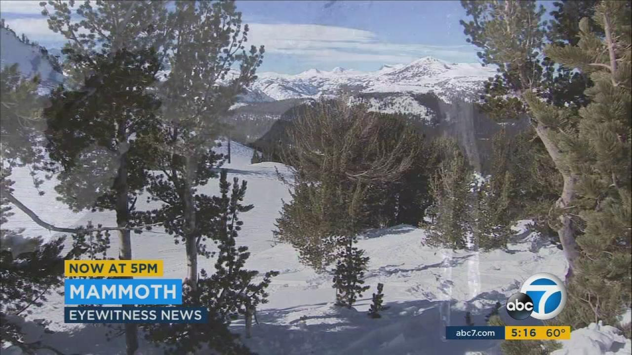 Mammoth Mountain seen covered in snow on Monday, Jan. 16, 2017.