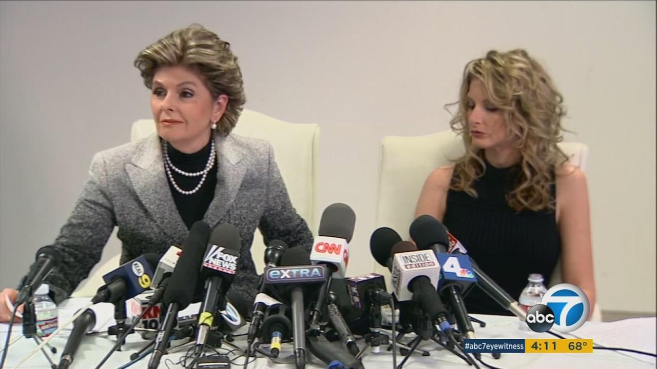 Former The Apprentice contestant Summer Zervos (right) and her attorney, Gloria Allred, have filed a defamation lawsuit against President-elect Donald Trump.