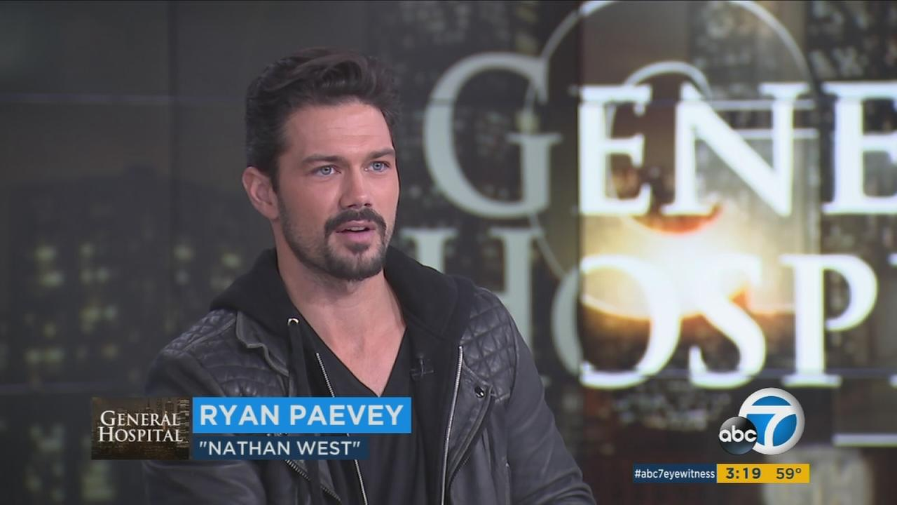 Actor Ryan Paevey, who plays Nathan West on the ABC soap General Hospital discussed the show and his outside interests in a visit to the Eyewitness News set.