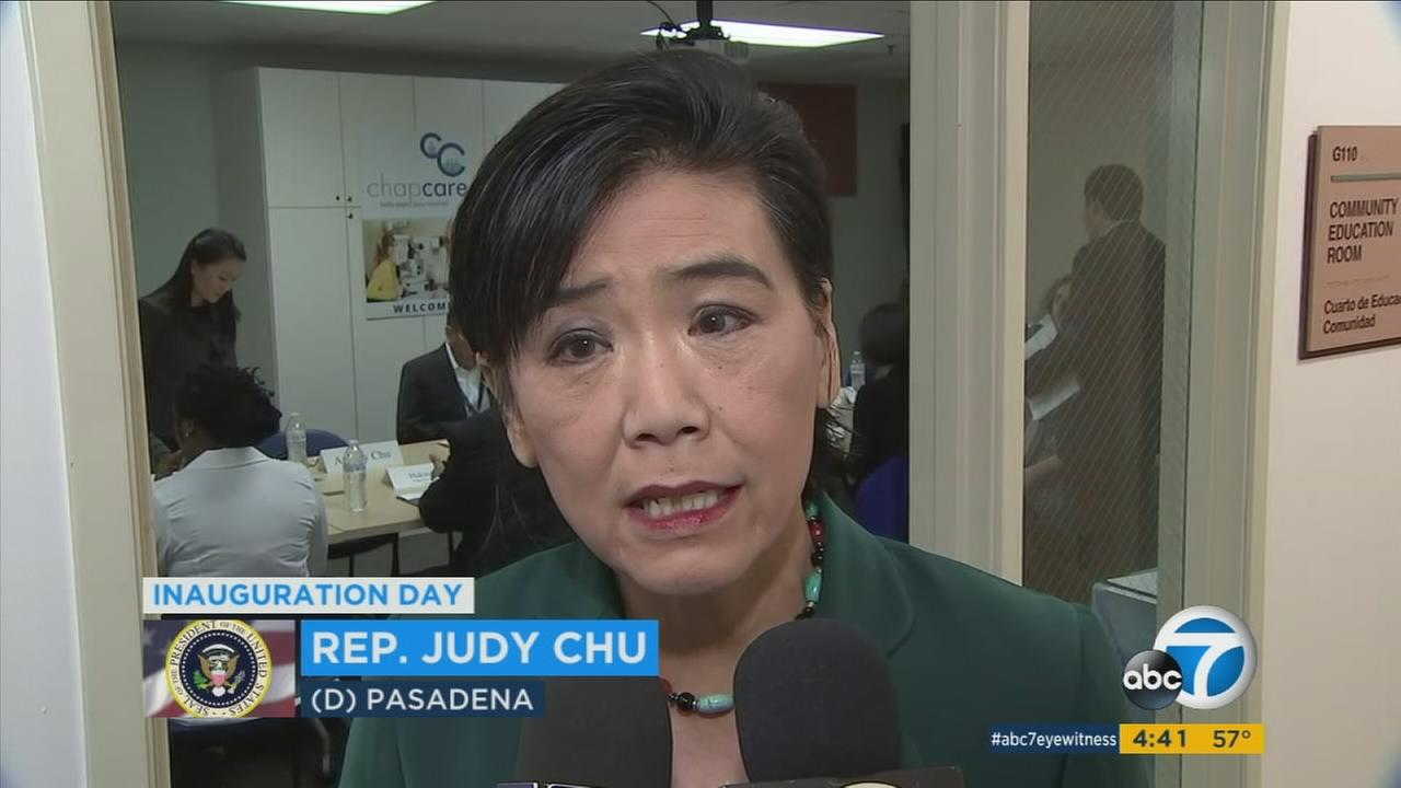Rep. Judy Chu of Pasadena was among dozens of Democrats who boycotted President Donald Trumps inauguration.