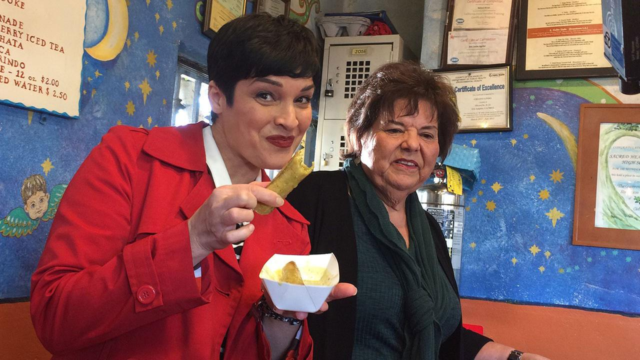 Tina Malave enjoys some taquitos on this weeks Eye on LA.