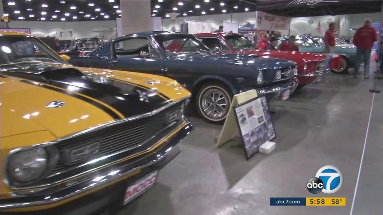 Classic cars will be on display at shows in downtown Los Angeles and Pomona this weekend.