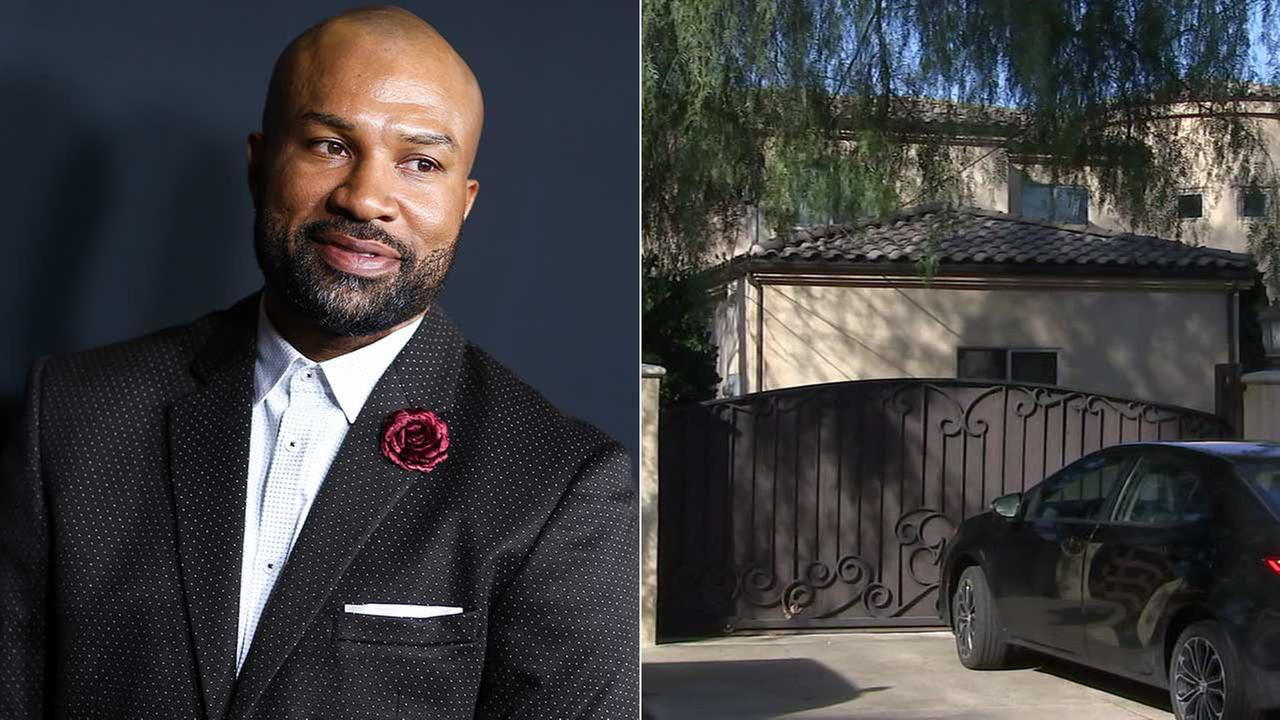 The home of Derek Fisher, seen left attending the L.A. premiere of Meet the Blacks on March 29, 2016 (AP Photo/John Salangsang/Invision), was burglarized Monday, Jan. 30, 2017.