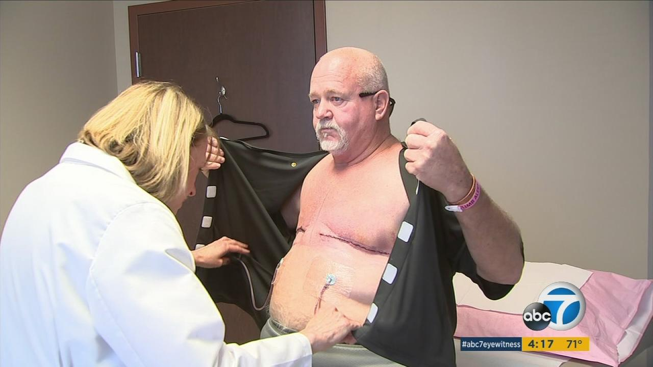 Santa Ana construction worker Tim Manshack is helping to raise awareness of male breast cancer.