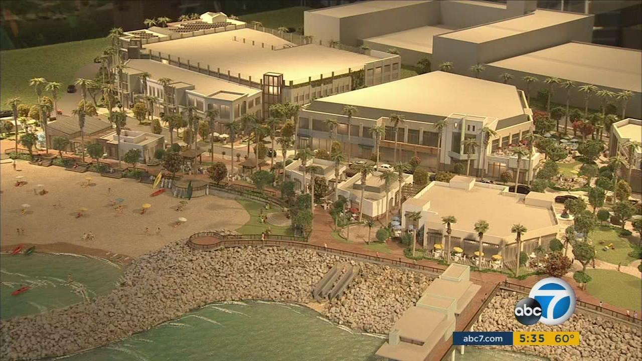 A rendering shows a proposed $400-million development at the Redondo Beach waterfront.
