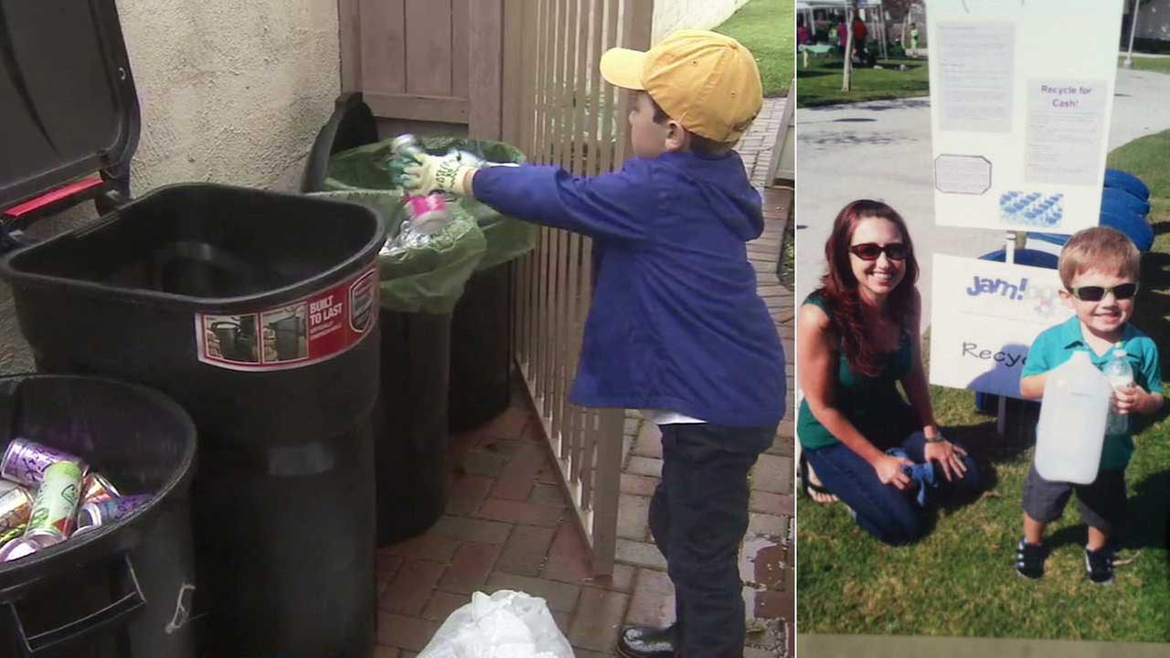 Ryan Hickman, 7, started his own recycling business, Ryans Recycling.