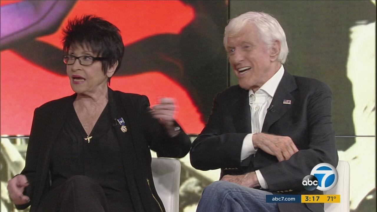 Entertainment legends Dick Van Dyke and Chita Rivera were in-studio guests of ABC7, where they talked about her live stage show coming up Friday.