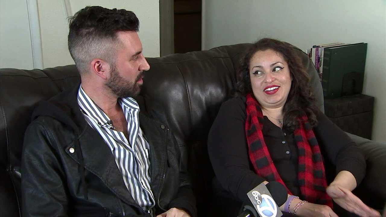 Matthew Stevens and Lupe Montes are seen during an interview with Eyewitness News.
