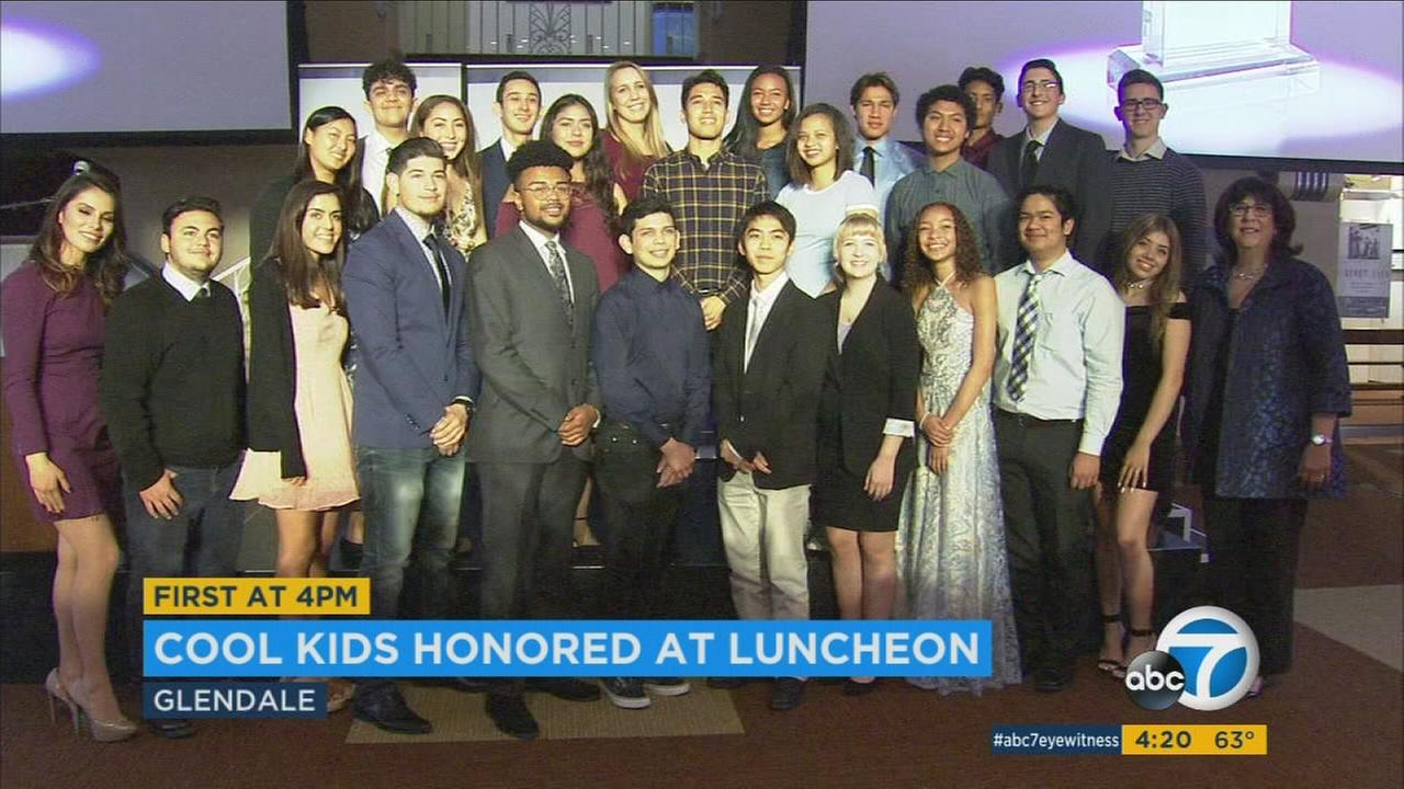 ABC7 honored Cool Kids who make a difference in their communities at a luncheon on Saturday.