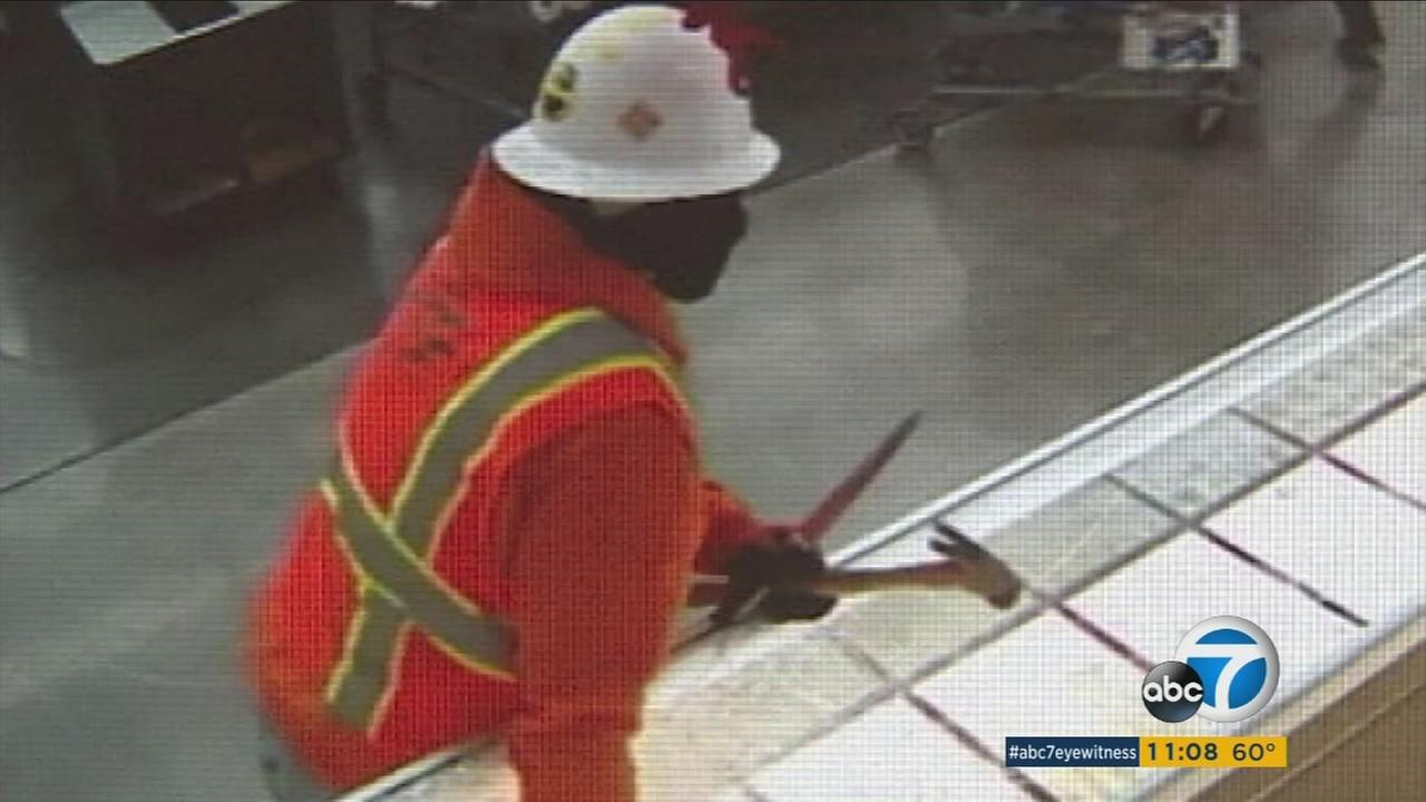 A man seen robbing a South El Monte jewelry store on Wednesday, Feb. 8, 2017.