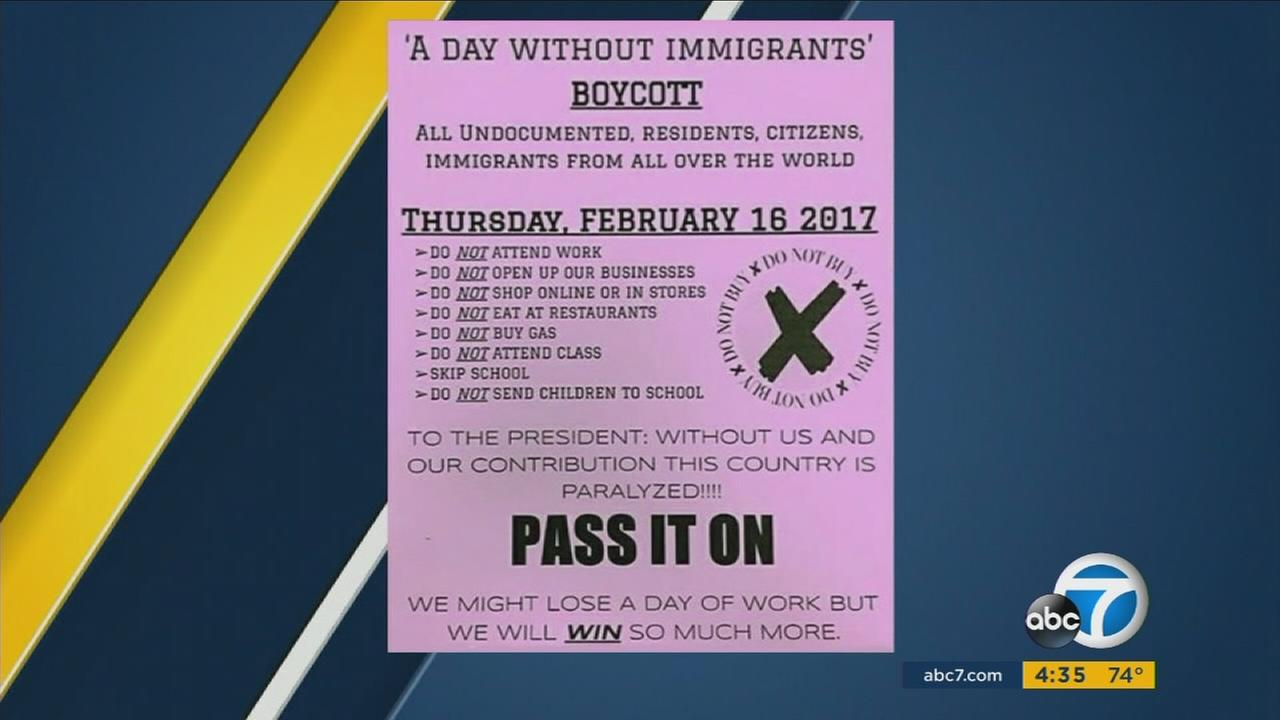 Amid the Trump administrations more aggressive stance on immigration issues, a grassroots efforts is encouraging immigrants nationwide to stay home Thursday.