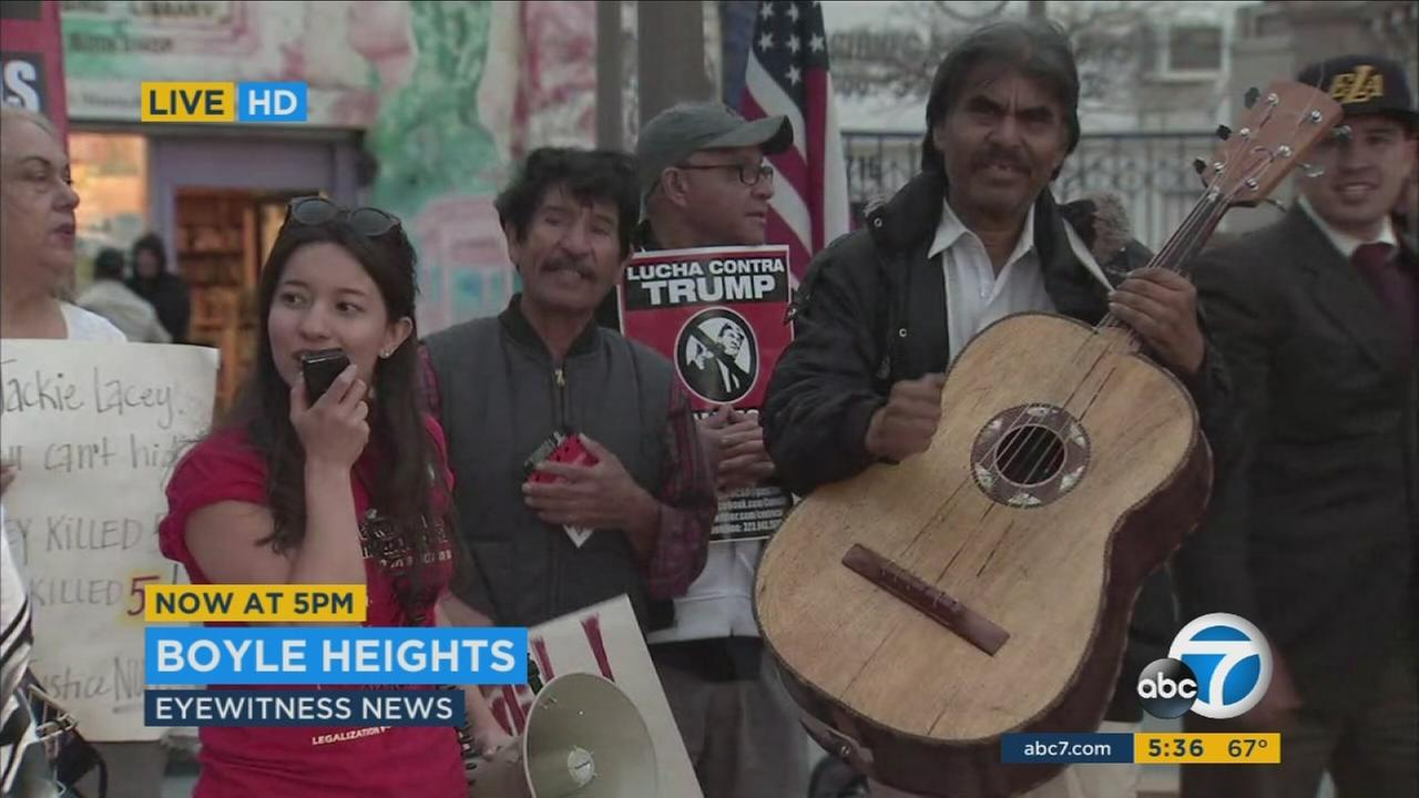 Protests were held around Southern California as part of A Day Without Immigrants.
