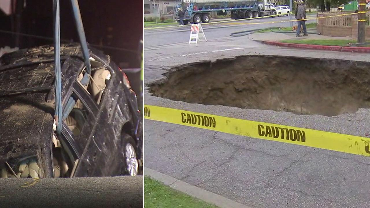 Studio City sinkhole may take several days to repair, officials say