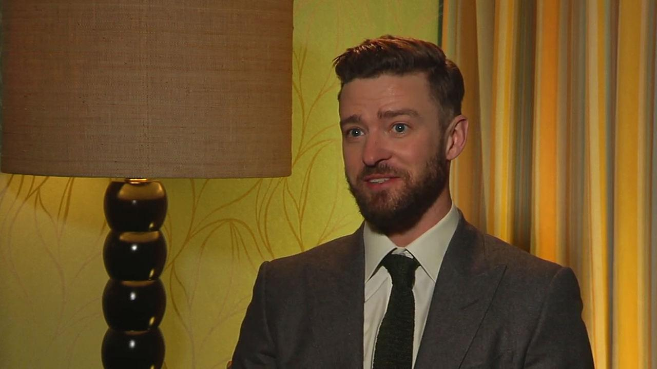 Singer-songwriter Justin Timberlake is shown during an interview on his Oscar-nominated song Cant Stop the Feeling.