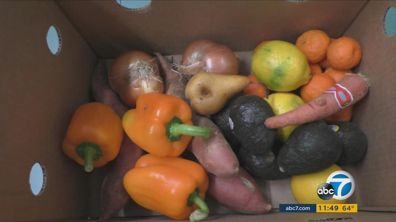 A box filled with ugly vegetables is shown.