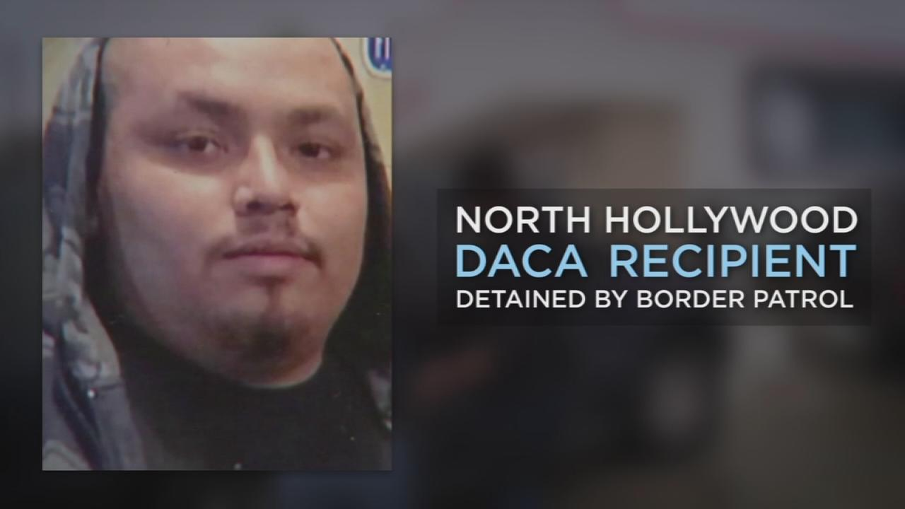 Jesus Arreola-Robles, 22, a dreamer of North Hollywood, who was detained by border patrol officials.