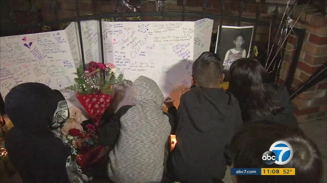 Friends of Jonah Hwang gathered outside a Pomona church to honor and remember the little boy who was shot and killed in a drive-by Monday night.