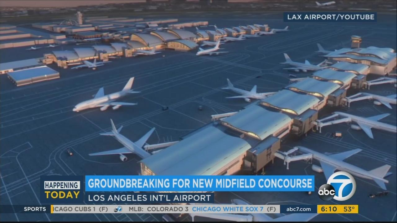 A computer-generated video shows planners vision of a new concourse at Los Angeles International Airport.