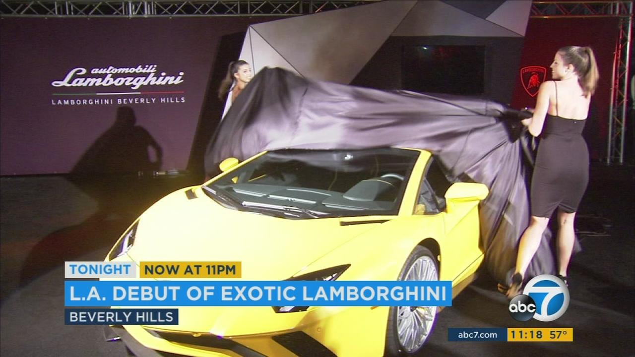 The Lamborghini Aventador S was unveiled at the P Zero World in Beverly Hills on Wednesday, March 2, 2017.