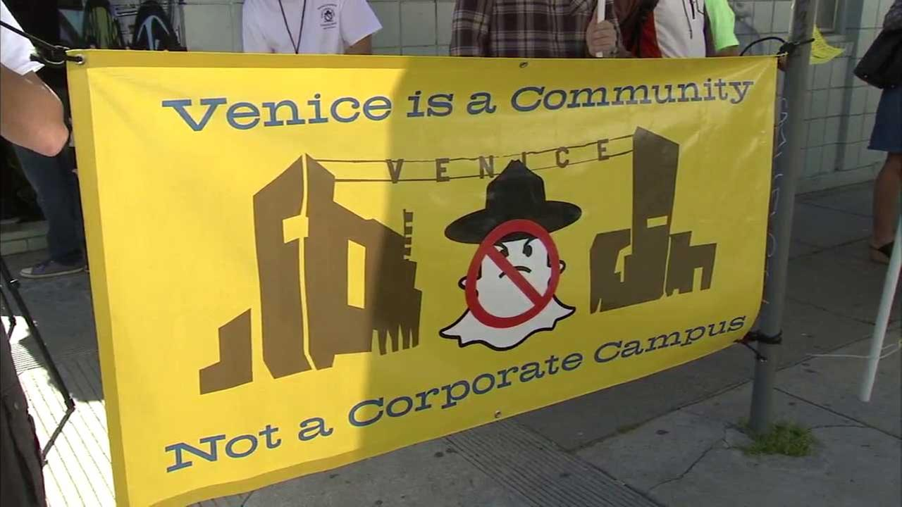Snap Inc. destroying Venice's vibrancy, protesters say