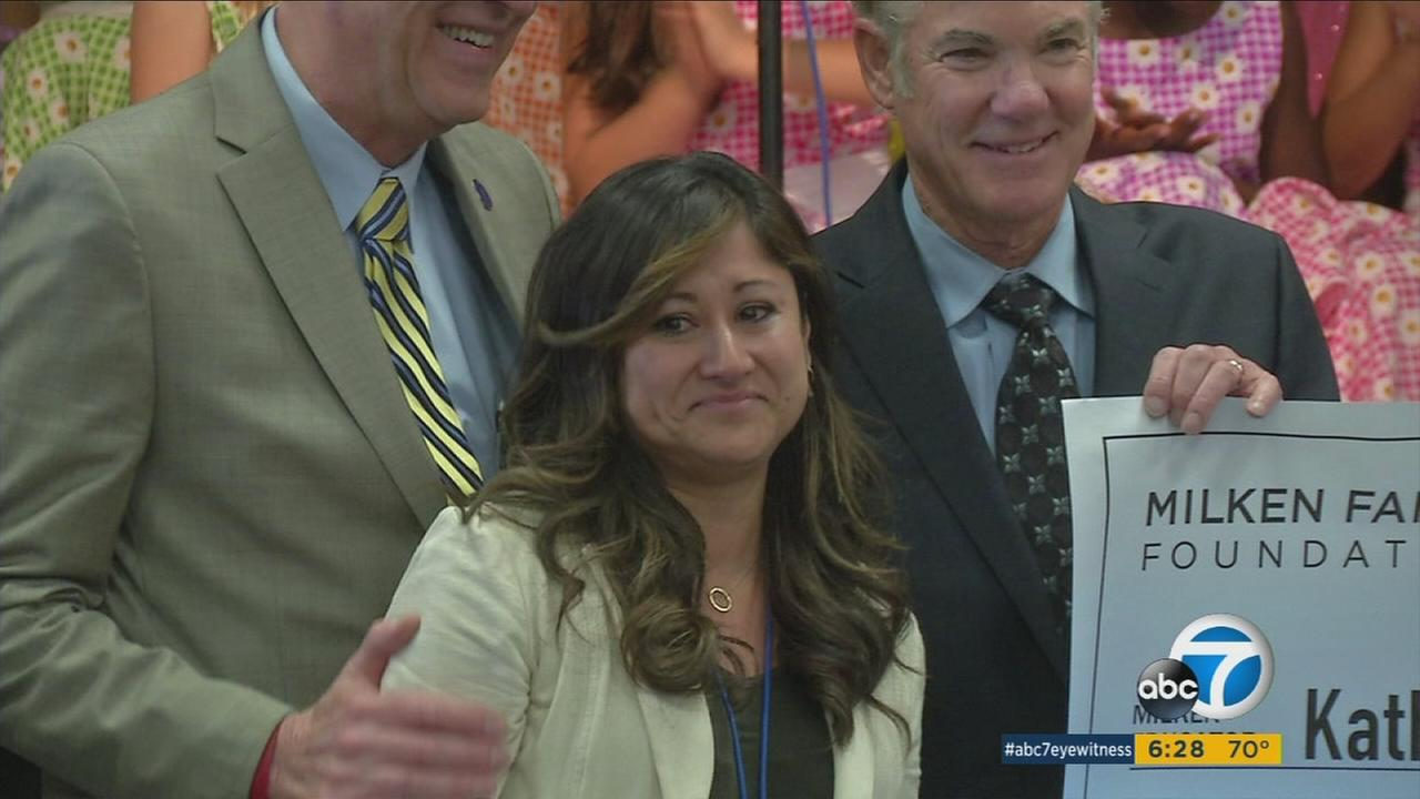 Katherine Shaw was the surprise recipient of the coveted Milken Educator Award.