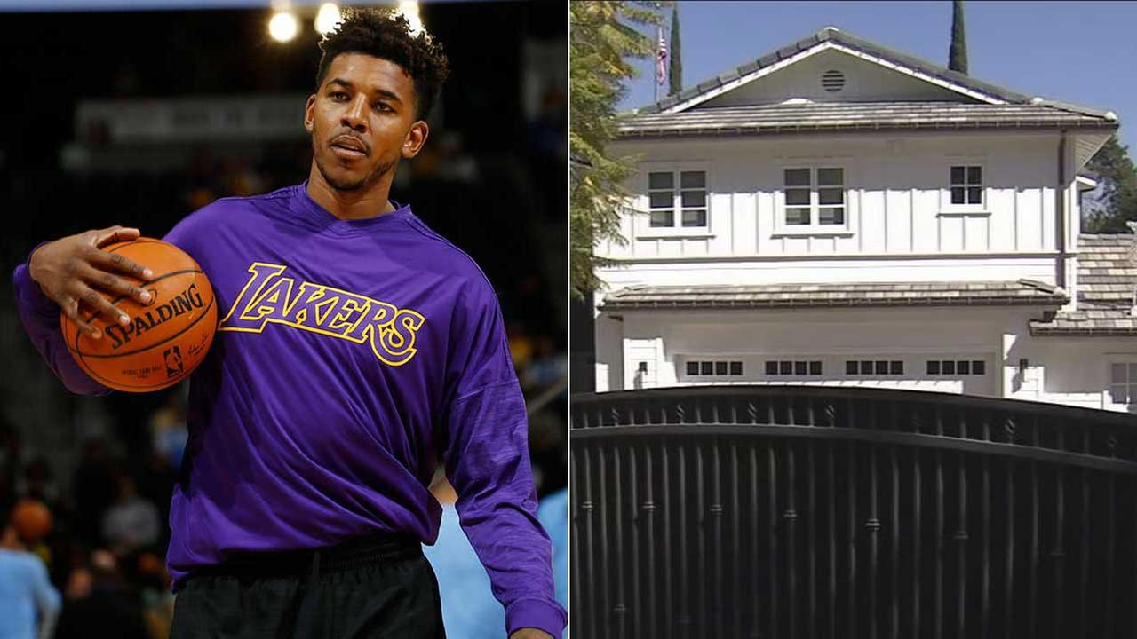 The Tarzana home of Lakers player Nick Young was burglarized sometime during the weekend of  Feb. 18 and Feb. 19.