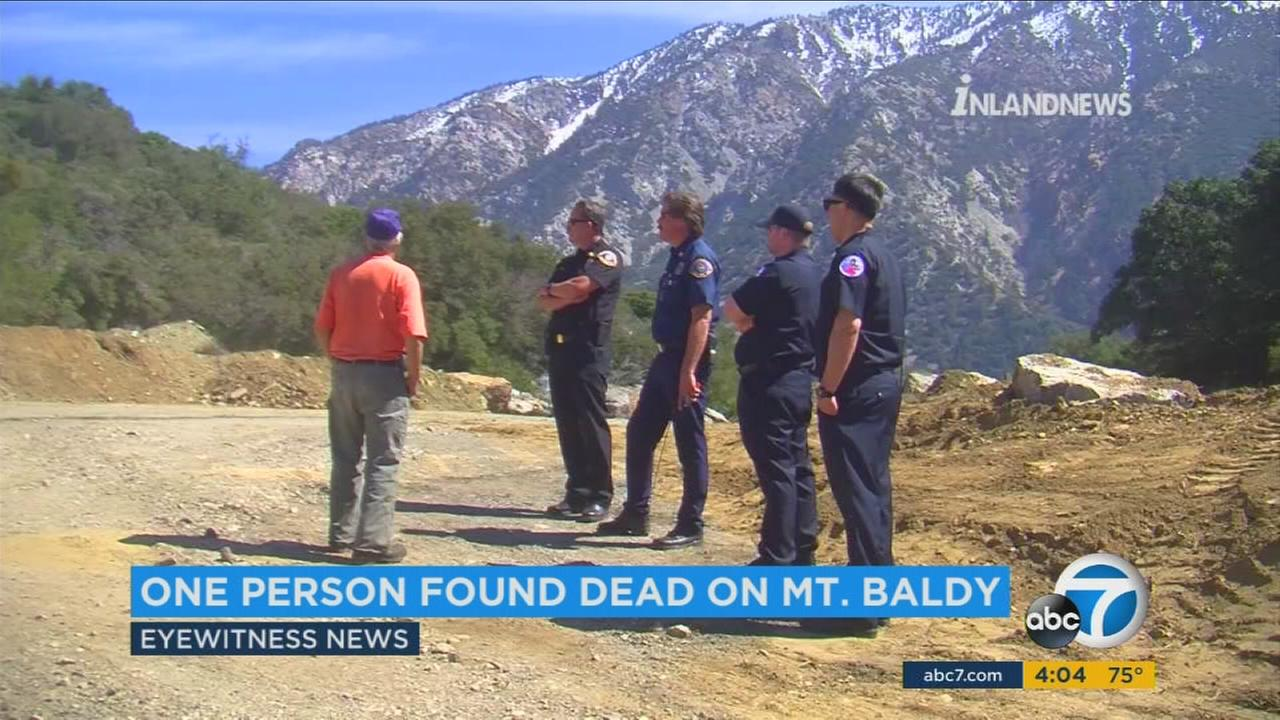San Bernardino County fire officials pronounced one person dead at the Devils Backbone Trail in Mount Baldy.