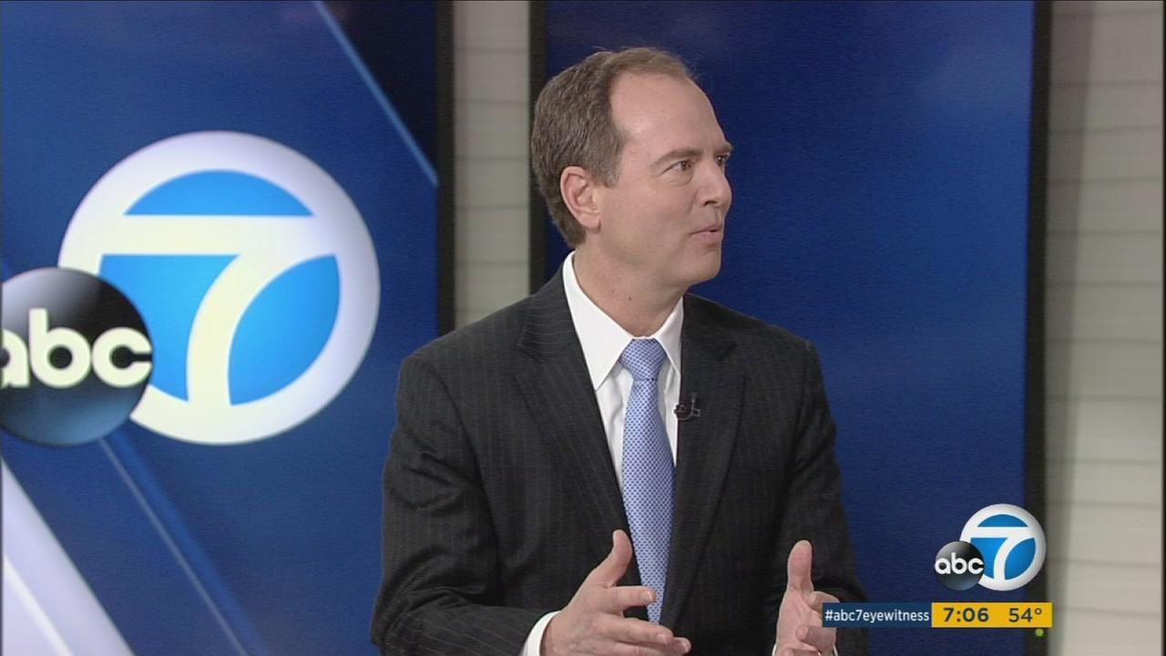 Congressman Adam Schiff sits down with Eyewitness News to talk about current issues on Sunday, March 12, 2017.