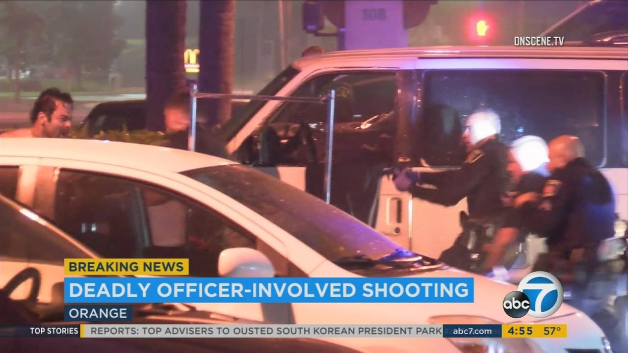 Dramatic, deadly officer-involved shooting in Orange caught on camera