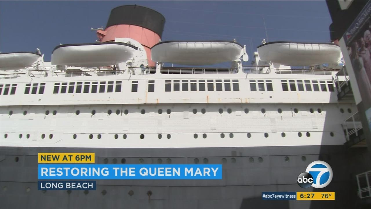 The Queen Mary is shown in Long Beach on Monday, March 13, 2017.
