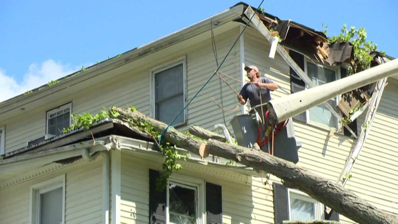 A man works on a home in this undated file photo.
