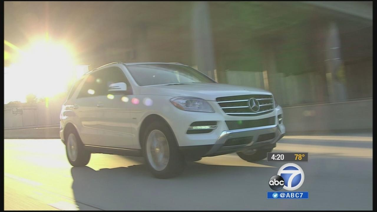 A Mercedes-Benz SUV drives down a road in this undated file photo.