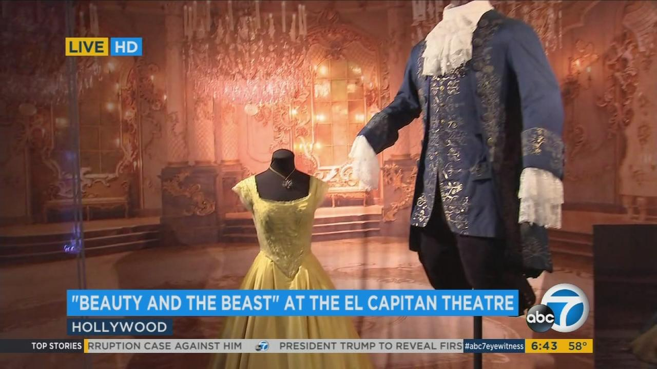 The El Capitan Theatre is bring Beauty and the Beast to life for fans in Hollywood.