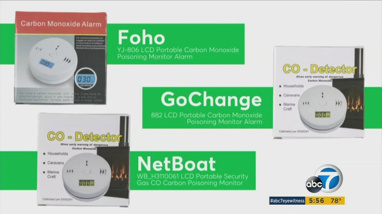 Consumer Reports found three carbon monoxide alarms with the brand names Foho, GoChange and NetBoat failed critical performance tests and have been labeled a dont buy.
