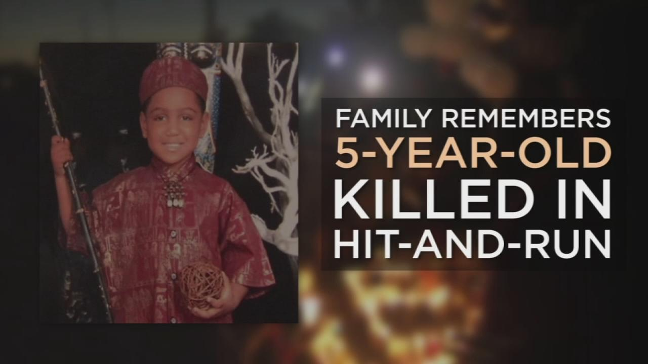 A 5-year-old hit-and-run victim was remembered by family during a candlelight vigil in South Los Angeles Wednesday night.