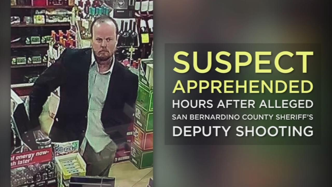 The man suspected of shooting a San Bernardino County sheriffs deputy was apprehended hours after the incident occurred Thursday morning at a gas station in Hesperia.