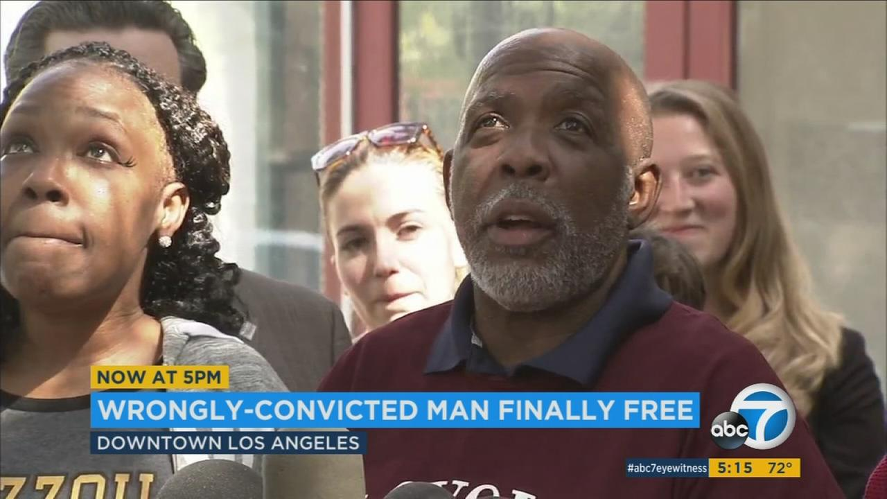 Wrongly-imprisoned man released from LA jail after more than 3 decades