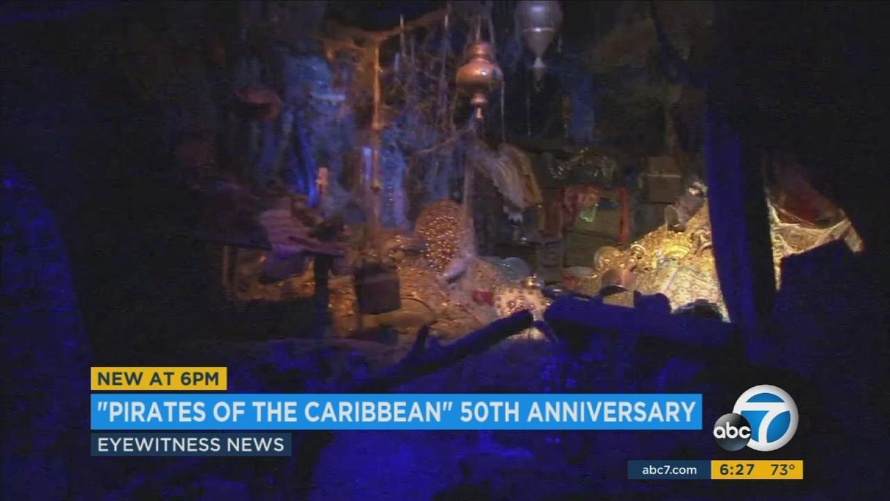 Disneyland celebrates 50th anniversary of 'Pirates of the Caribbean' ride