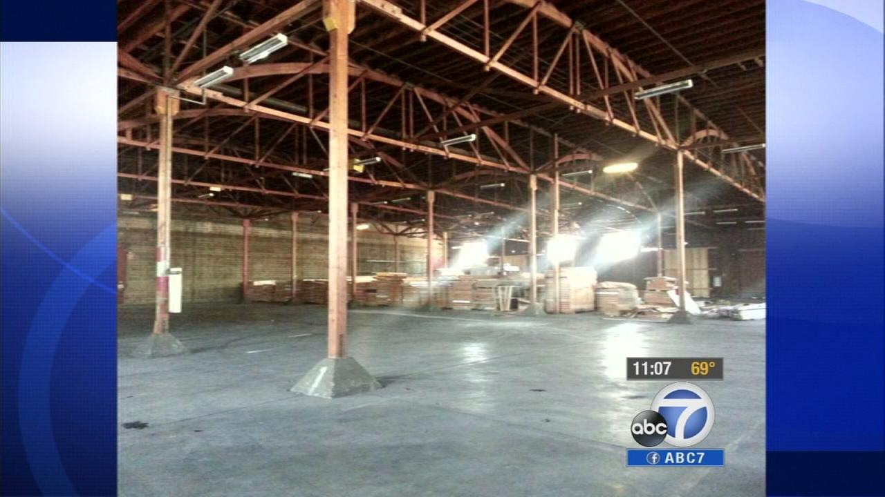 A warehouse in Bell that may undergo renovations to become a shelter housing immigrant children.