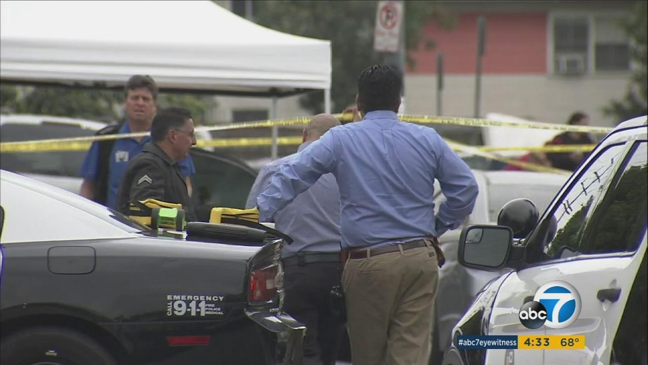 Police are investigating the shooting death of a 31-year-old Bloomington, Calif. man outside a Boyle Heights apartment complex on Monday, March 20, 2017.